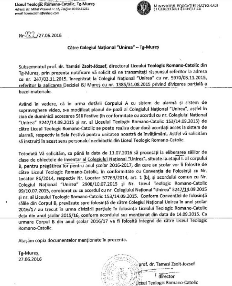 adresa Liceul Teologic Romano_Catolic