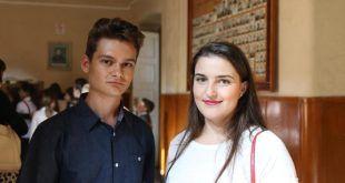 Vlad Sabău și Diana Avram, foști elevi la Papiu