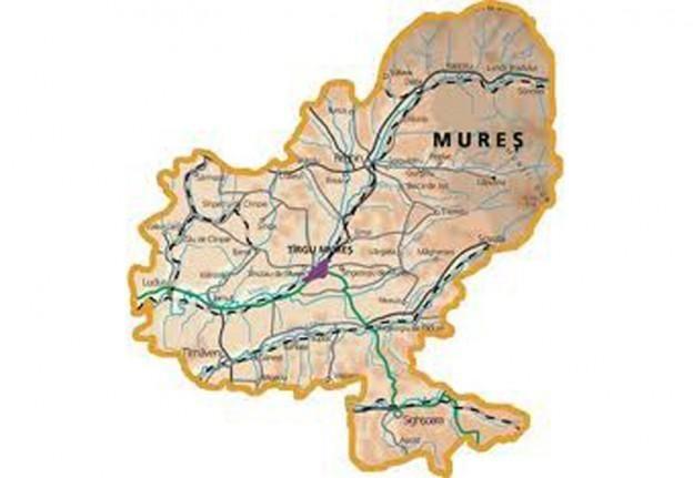 Harta Judetului Mures 624x431 Stiri Din Mures Stiri Targu Mures