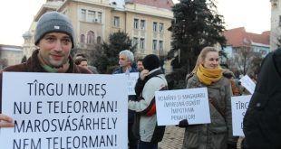 Protest în Tîrgu Mureș