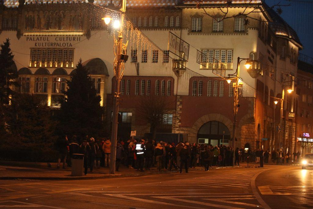 Protestele continuă în Tîrgu Mureș