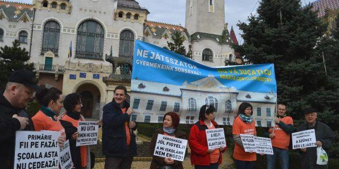 Protest Grup Civic Liceu Romano Catolic