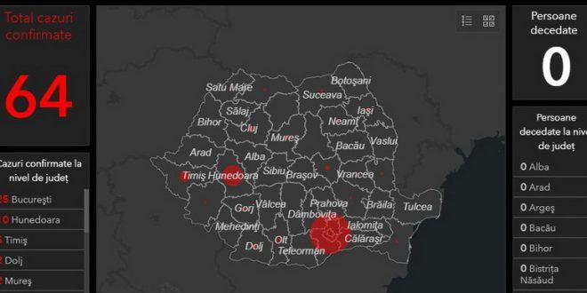 Harta Interactivă A Județelor Cu Cazuri De Coronavirus Stiri Din