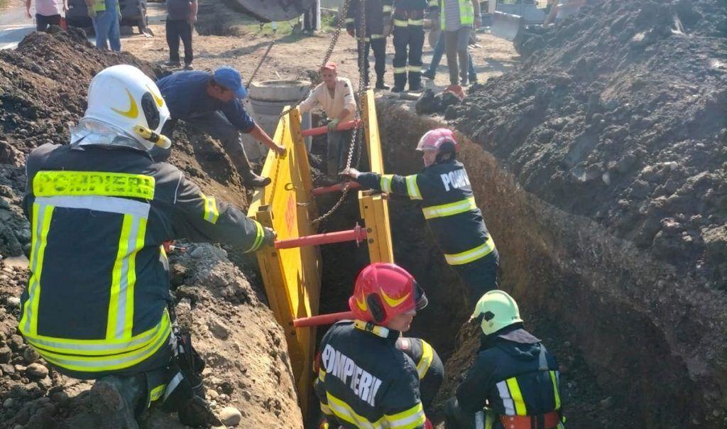 Muncitor din Ceuașu de Câmpie, aproape să fie îngropat de viu